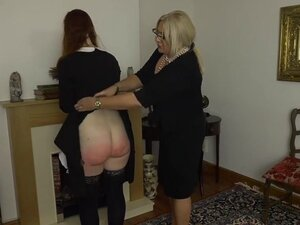 Apologetic maid gets punished pt