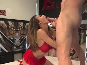 Busty amateur babe with a hot round ass sucked and
