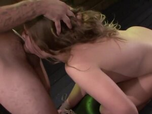 Fucked and throated ### gags on cock