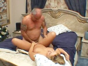 Amateur blonde fuck by old man