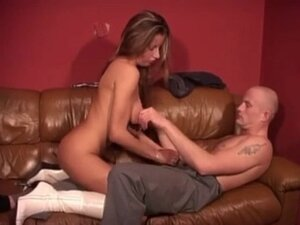 Skinny Polish Bitch In High Leather Boots Gets