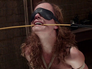 Brunette slave trainee whipped and caned