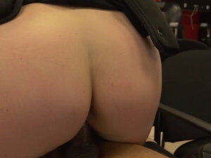 Milf cops steam up a barbershop as they look for a