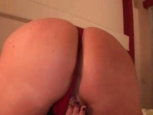 Mature tramp licks her big tits and finger pussy