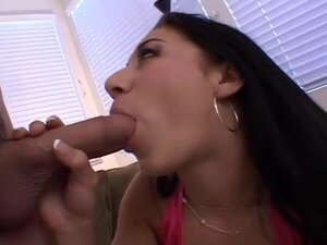 Long Haired Whore Slurps On A Stiff Cock, Kira