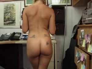 Blonde Bimbo In Braids Sucking Dick In Back Office