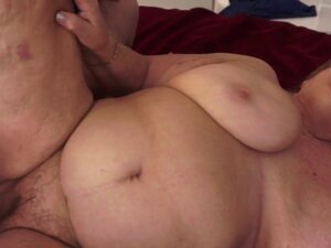 Fat gilf fucked in hotel room by big cock