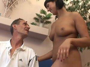 Naughty Brunette Stepdaughter Pleases Her