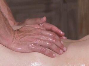 Hairy twat babe fucks hr masseur