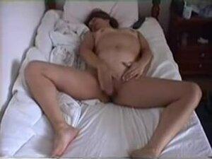 Girl masturbates to a big orgasm, Very horny and