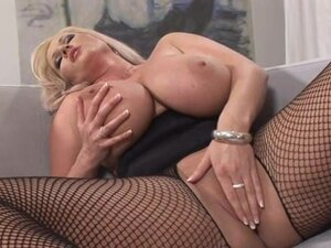 Blonde with shaved pussy Laura Orsolya is