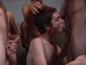 Landon fucked and cum drenched