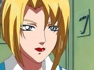 Hot anime redhead enjoys sex toy