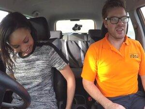 Fake Driving School Pretty black girl seduced by