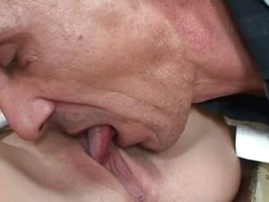 Horny old man loves licking a cute part5