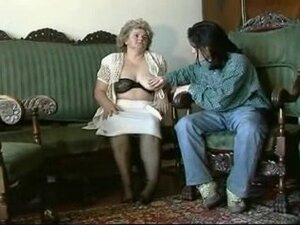 BBW granny gets fucked by a young chap, Lusty BBW