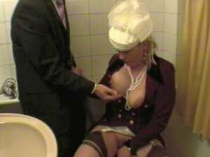 Depraved Lady Masturbate In Toilet Fully Clothed