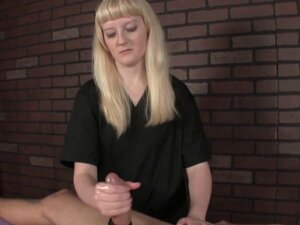CBT masseuse jerking pathetic client