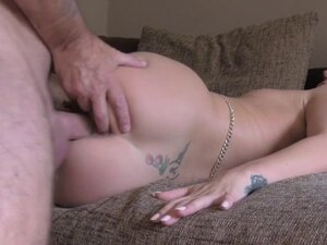 Perfect ass blonde fucks in casting