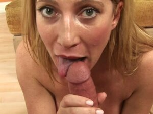 Close up cocksucking with slutty milf