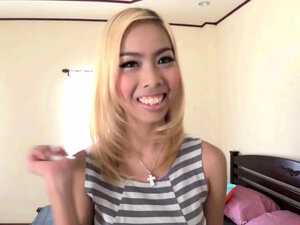 Hot Thai blonde teen creampied