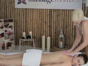 Beautiful bare babe at lesbian massage