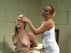 Submissive Laurah has a striking dominatrix