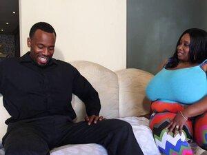 Sexy Ebony Busty Cotton Candi Swallows Jovan