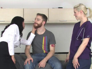 Sweeties plow bfs anus with massive belt cocks and