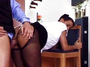 The black maid fucked hard