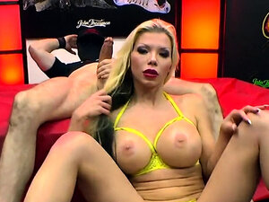 Tattooed busty barbie sins gets anal fuck with cum