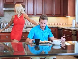 Hot fucking with MILF Helly stepson Van and gf