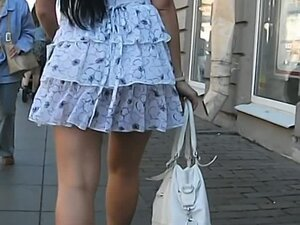 Upskirt footage of a impassioned brunette with