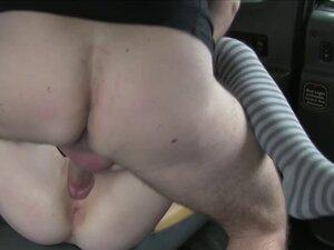 Euro redhead slut gets banged hard in the backseat