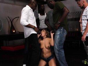 Moka Mora Gets Gangbanged By Black Dicks - Cuckold