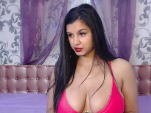 Indian girl teases huge tits live on webcam