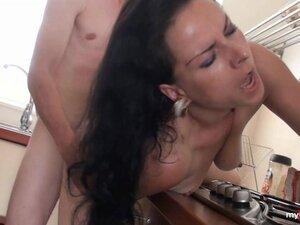 Black haired german Mom fucked hard!