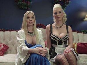 Crazy lesbian, anal sex video with horny pornstars