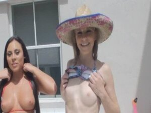 Foursome Pool Party With Two Horny Sluts Gianna