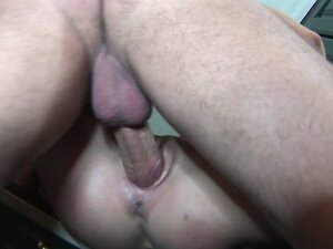 Stud polished tight pussy the in kitchen,