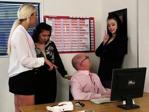 British doms tugging sub in breakroom group