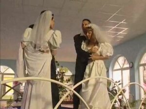 Brides double fucked by their lustful partners,