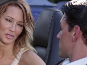 Jessica Drake seduces a horny lover for a quick