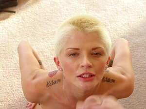 1000Facials Shaved blond tattooed emo awesome