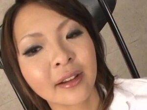 Reina Mizuki kneels to suck on a juicy cock in POV