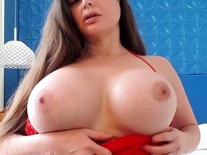 Brunette fucks herself solo with big dildo close