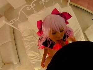 Asian cosplay pov sucking cock and cowgirl ride