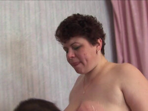 Russian mature mom fucked in all holes