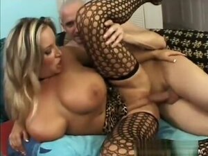 Busty blonde milf Rachel Love has her man fucking