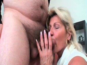 Sexy mature couple in hot action